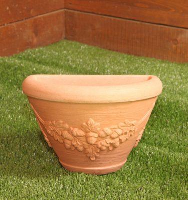 vaso da muro con festone