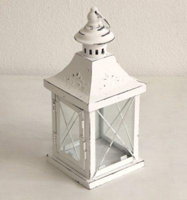 Lanterna Bianco Metallo - Vivaio Arreda Online Shop