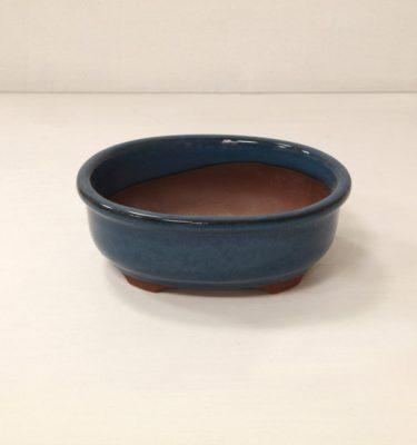 vaso bonsai blu