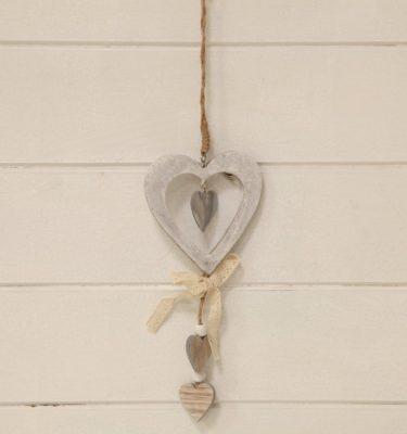 cuore legno ciondoli