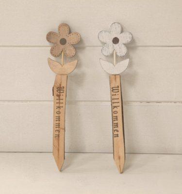 Decorazione fiore in legno - Vivaio Arreda Online Shop