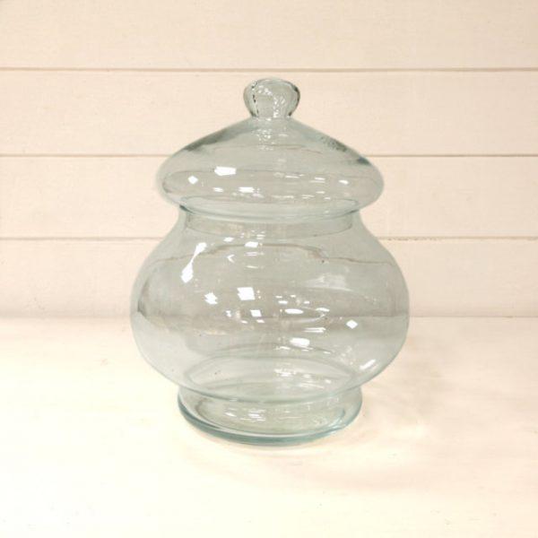 Vaso in vetro bombato con coperchio - Vivaio Arreda Online Shop