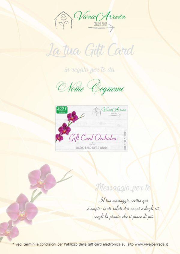 Gift Card Orchidea 300 - Vivaio Arreda Online Shop