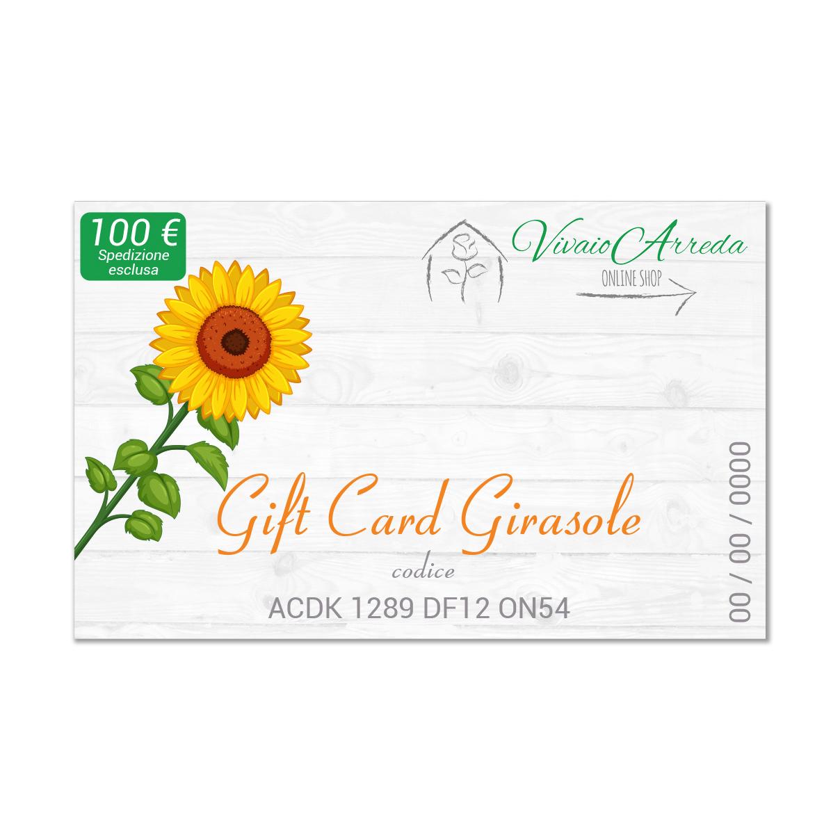 Gift Card Girasole - Vivaio Arreda Online Shop