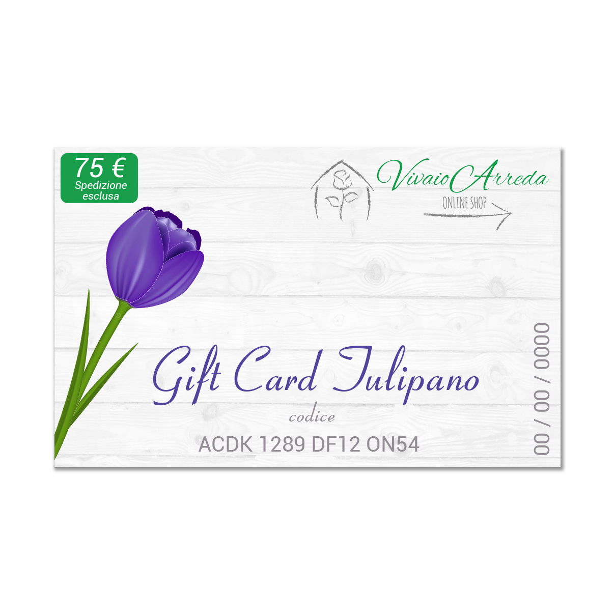 gift card tulipano 75 vivaio arreda