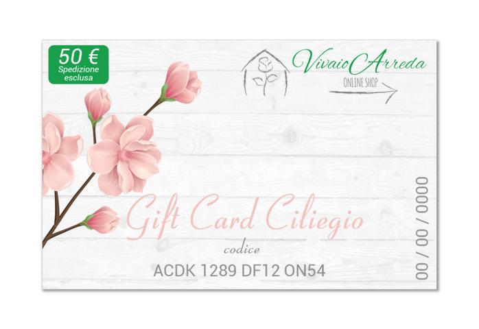 Gift Card Ciliegio 50 spedizione esclusa - Vivaio Arreda Online Shop
