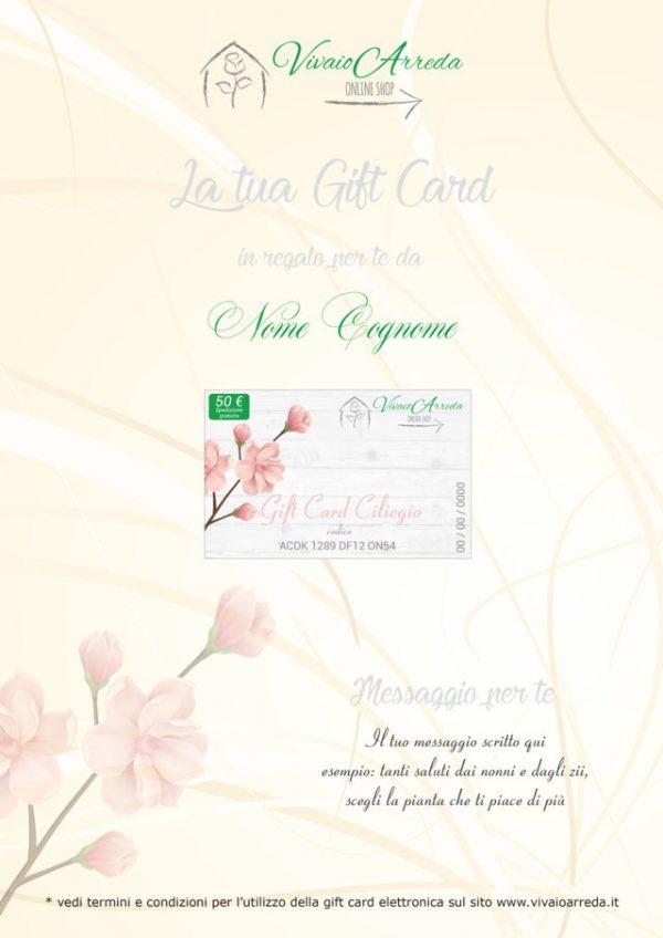 Gif Card Ciliegio 50 - Vivaio Arreda Online Shop