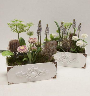 composizione cassetto fiorito