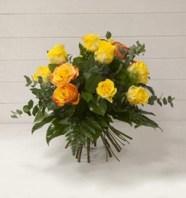Bouquet Rose Gialle e Arancio