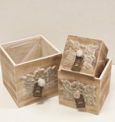 Portavaso Cassetto in legno